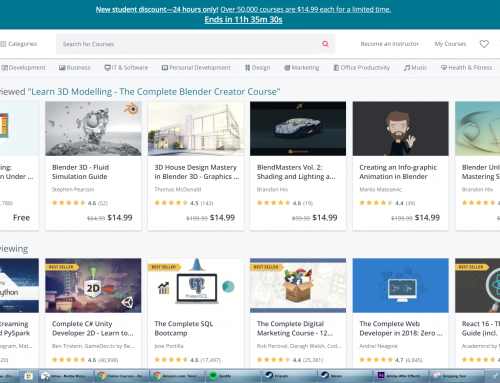 Udemy Courses are On Sale ($14.99 for everything)
